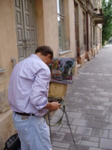 художник во Львове