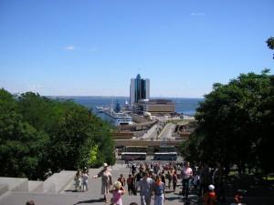 На верху Потемкинской лестницы