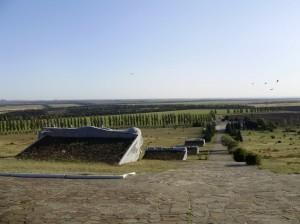 Вид вниз от мемориала