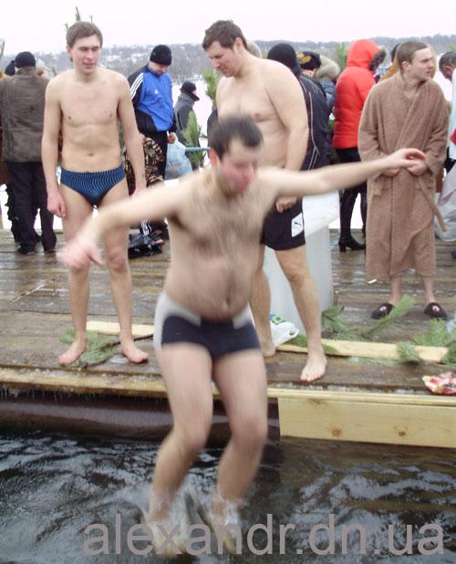 Крещенское купание в Карловке