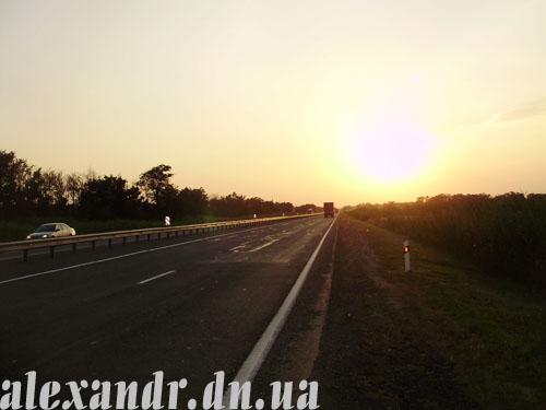 Закат на трассе М29 «Кавказ»