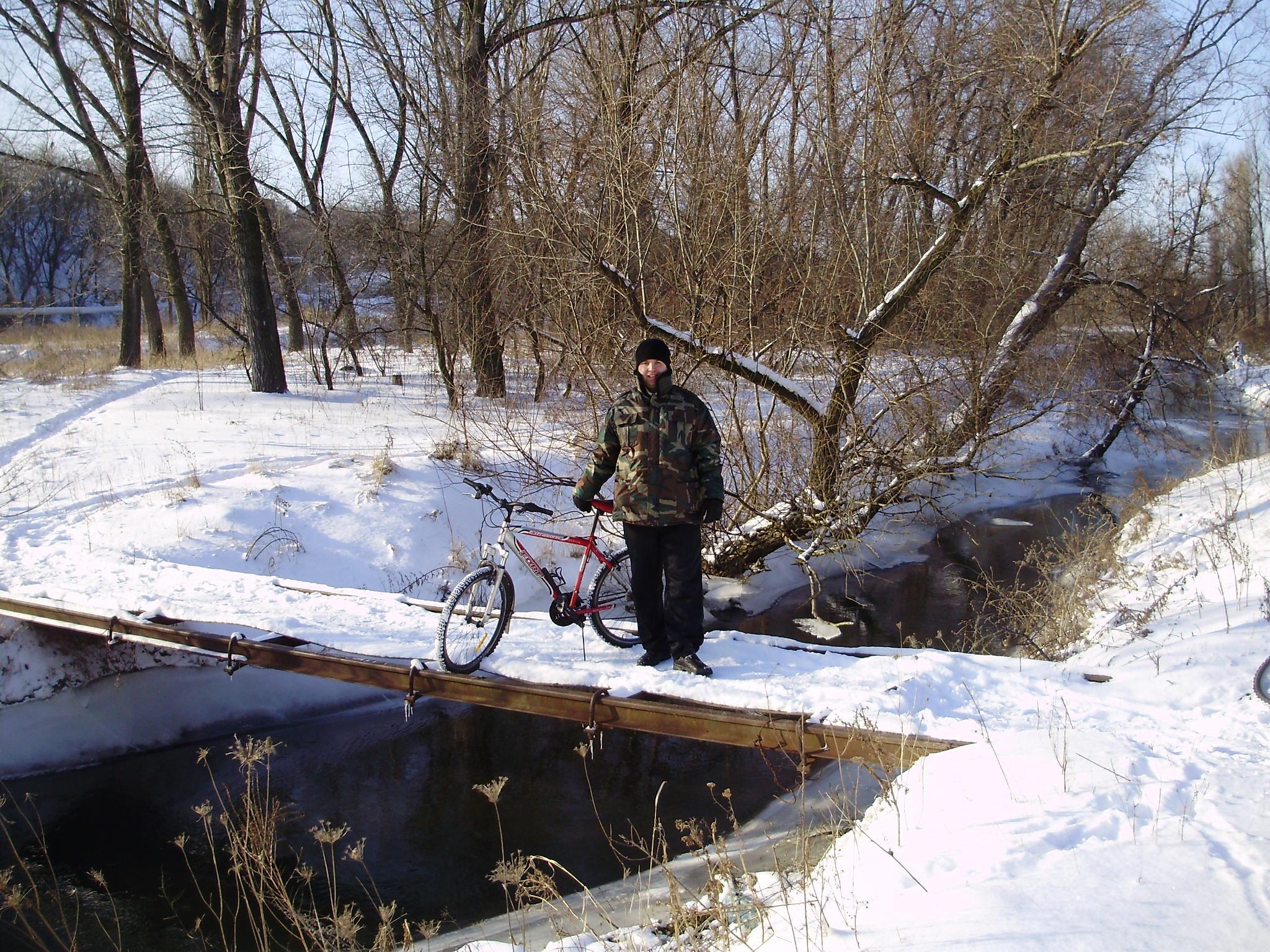 вело прогулка зимой