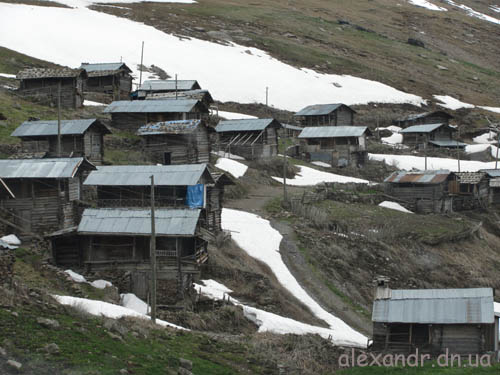 брошенное село в Турции